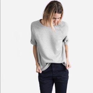 New! Everlane Gray Short Sleeve Sweatshirt S